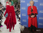 Fashion Blogger Catherine Kallon features Glenn Close In Valentino - 2019 Santa Barbara International Film Festival