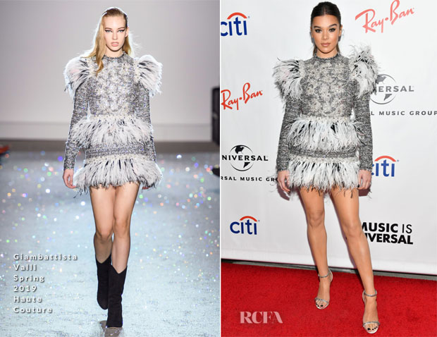 Fashion Blogger Catherine Kallon features Hailee Steinfeld In Giambattista Valli Haute Couture - Universal Music Group's 2019 After Party To Celebrate The GRAMMYs