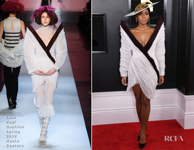 Fashion Blogger Catherine Kallon features Janelle Monáe In Jean Paul Gaultier Haute Couture - 2019 Grammy Awards