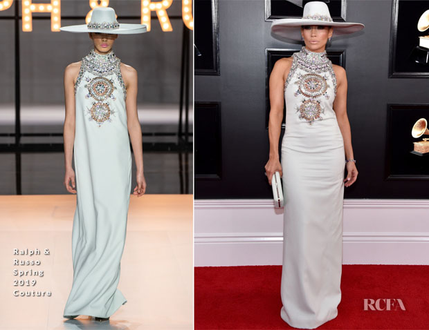 Fashion Blogger Catherine Kallon features Jennifer Lopez In Ralph & Russo Couture - 2019 Grammy Awards