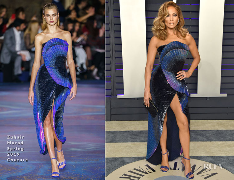 Jennifer Lopez In Zuhair Murad Couture - 2019 Vanity Fair Oscar Party