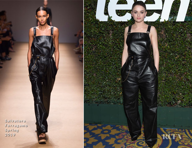 Fashion Blogger Catherine Kallon features Joey King In Salvatore Ferragamo - Teen Vogue's 2019 Young Hollywood Party