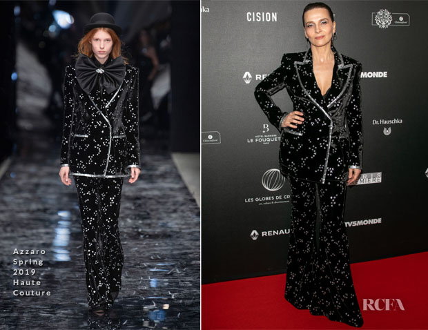 Juliette Binoche In Azzaro Haute Couture - 14th 'Globe De Cristal' Ceremony