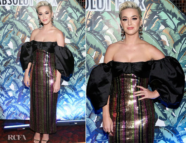 Fashion Blogger Catherine Kallon features Katy Perry In Rasario - Mark Ronson's 'Club Heartbreak' Grammy Party