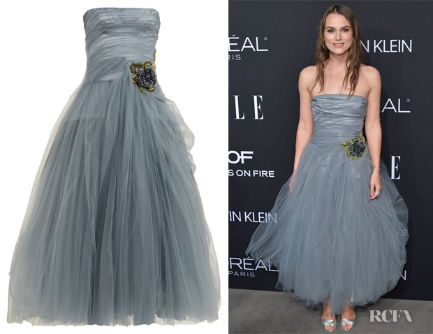 Keira Knightley's Prada Crystal-Embellished Tulle Gown