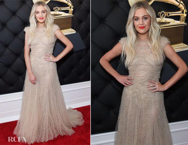 Fashion Blogger Catherine Kallon features Kelsea Ballerini In Jenny Packham - 2019 Grammy Awards