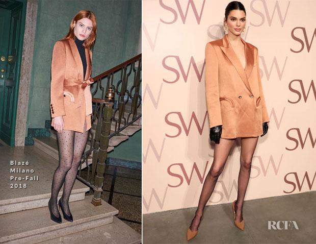 Fashion Blogger Catherine Kallon features Kendall Jenner In Blazé Milano - Stuart Weitzman Spring Celebration 2019