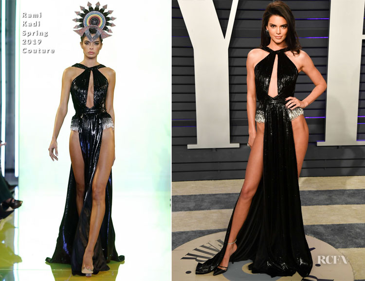 Kendall Jenner In Rami Kadi Couture - 2019 Vanity Fair Oscar Party