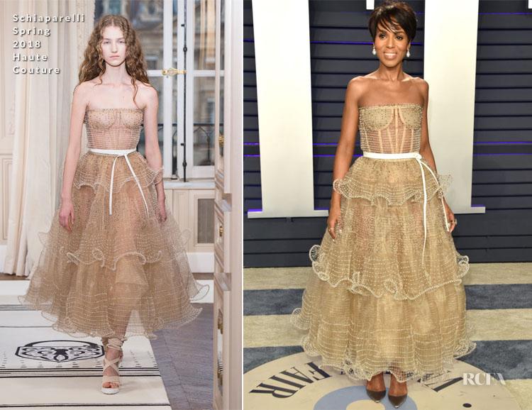 Kerry Washington In Schiaparelli Haute Couture - 2019 Vanity Fair Oscar Party