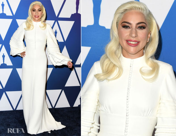 Fashion Blogger Catherine Kallon features Lady Gaga In Louis Vuitton - 2019 Oscars Nominees Luncheon