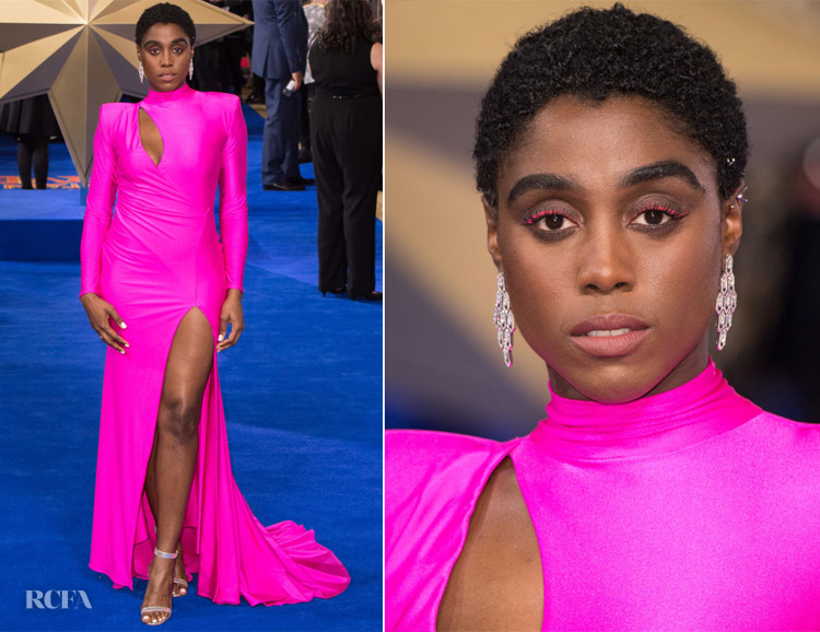 Lashana Lynch In Michael Costello - 'Captain Marvel' London Premiere