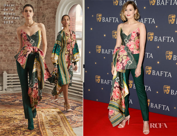 Laura Carmichael In Oscar de la Renta - BAFTA Film Gala