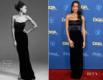 Fashion Blogger Catherine Kallon features Laura Harrier In Brandon Maxwell - 2019 Directors Guild Of America Awards