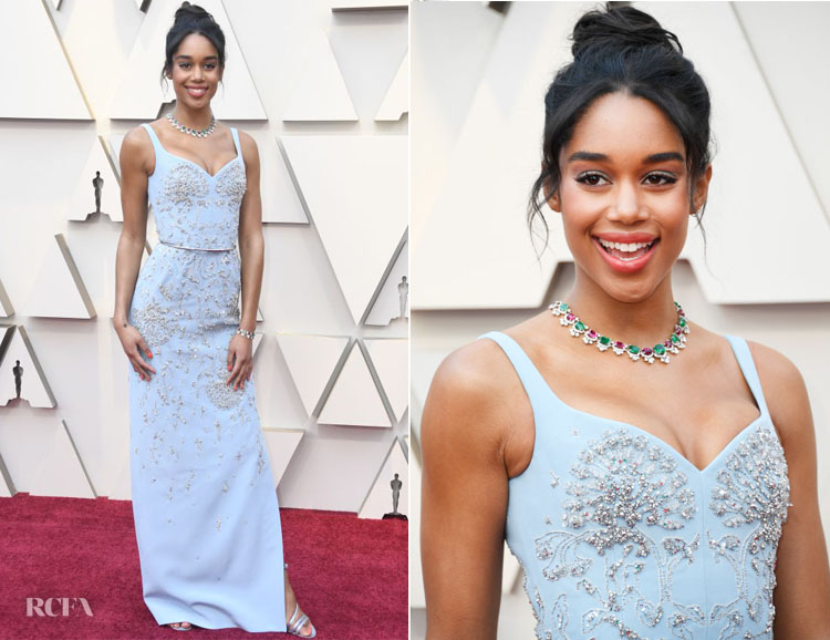 Fashion Blogger Catherine Kallon features Laura Harrier In Louis Vuitton - 2019 Oscars