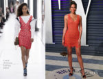 Laura Harrier In Louis Vuitton - 2019 Vanity Fair Oscar Party
