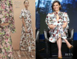 Fashion Blogger Catherine Kallon features Lauren Cohan In Monique Lhuillier - 2019 Winter TCA Tour