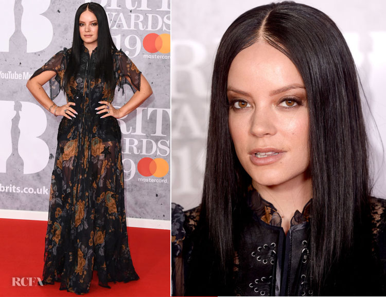 Fashion Blogger Catherine Kallon features Lily Allen In Coach - The BRIT Awards 2019
