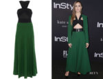 Lily Collins' Givenchy Twist-Top Maxi Dress
