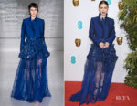 Fashion Blogger Catherine Kallon features Lily Collins In Givenchy Haute Couture - 2019 BAFTAs