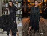 Fashion Blogger Catherine Kallon features Lily James In Khaite - 'All About Eve' Press Night After Party