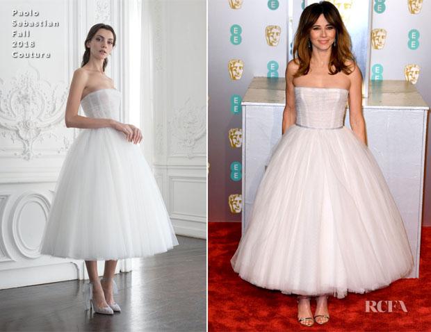 Fashion Blogger Catherine Kallon features Linda Cardellini In Paolo Sebastian Couture - 2019 BAFTAs