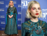 Fashion Blogger Catherine Kallon features Lucy Boynton In Gucci - 2019 Santa Barbara International Film Festival