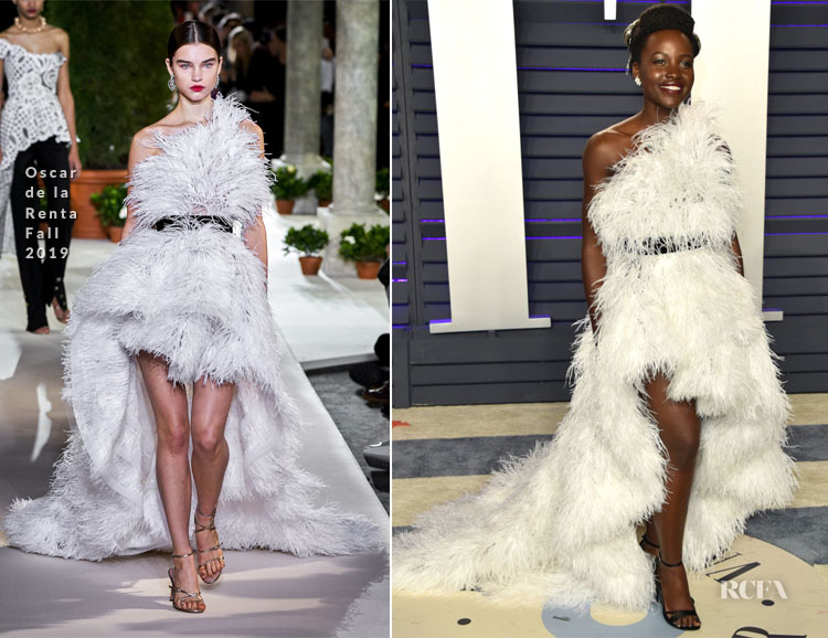 Lupita Nyong'o In Oscar de la Renta - 2019 Vanity Fair Oscar Party