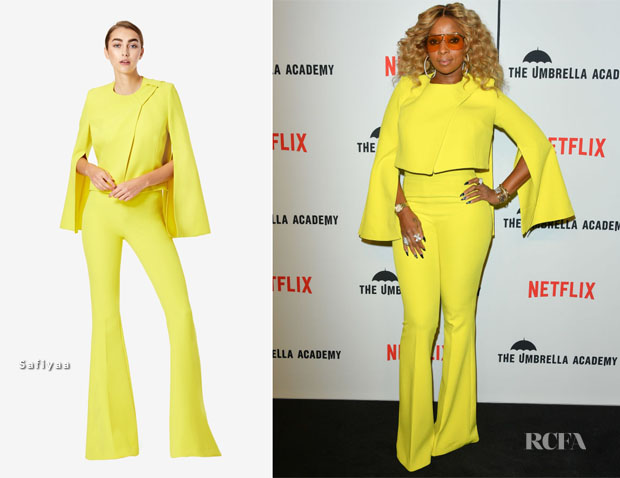 Fashion Blogger Catherine Kallon features Mary J Blige In Safiyaa - 'The Umbrella Academy' Toronto Premiere