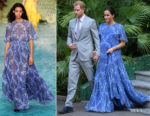 Meghan, Duchess of Sussex In Carolina Herrera - King Mohammed VI of Morocco Reception