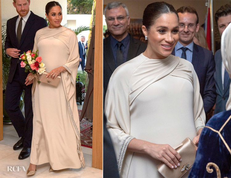 Meghan, Duchess of Sussex In Christian Dior Haute Couture -  British Ambassador Reception