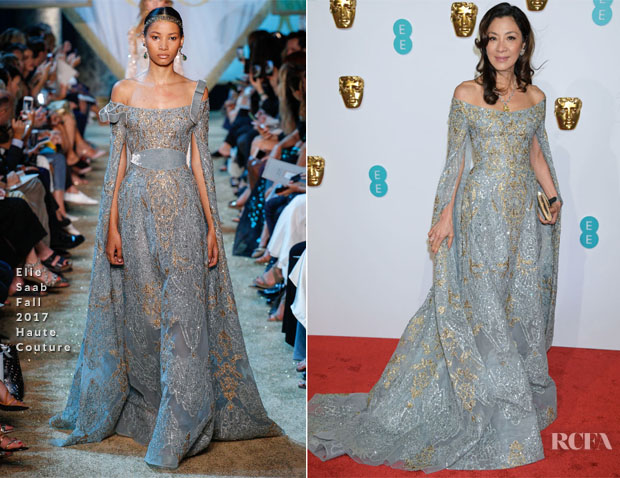 Fashion Blogger Catherine Kallon features Michelle Yeoh In Elie Saab Haute Couture - 2019 BAFTAs