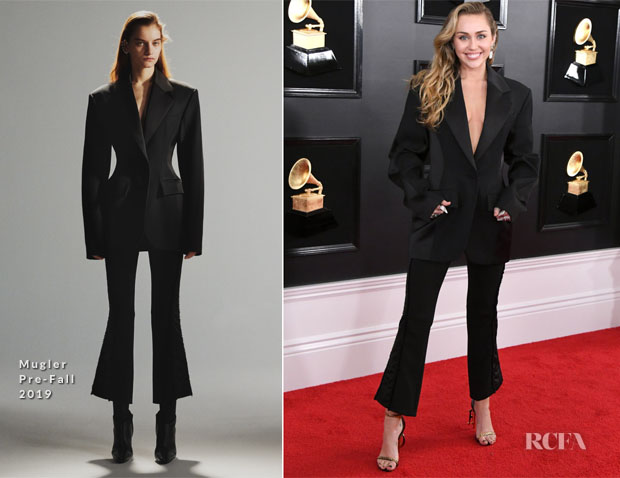 Fashion Blogger Catherine Kallon features Miley Cyrus In Mugler - 2019 Grammy Awards