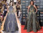 Fashion Blogger Catherine Kallon features Nieves Alvarez In Elie Saab Haute Couture - 2019 Goya Awards