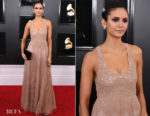 Fashion Blogger Catherine Kallon features Nina Dobrev In Christian Dior - 2019 Grammy Awards