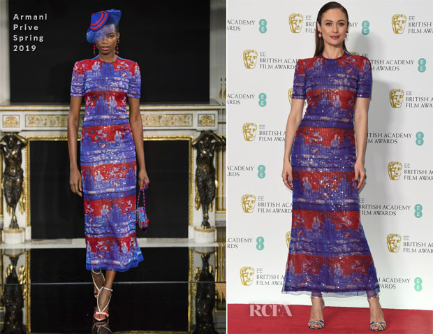 Fashion Blogger Catherine Kallon features Olga Kurylenko In Armani Prive - 2019 BAFTAs