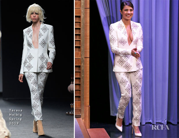 Fashion Blogger Catherine Kallon features Priyanka Chopra In Teresa Helbig - The Tonight Show Starring Jimmy Fallon