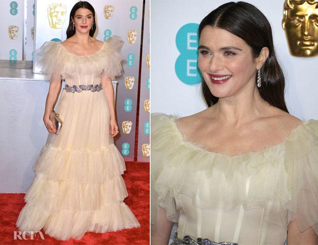Fashion Blogger Catherine Kallon features Rachel Weisz In Gucci - 2019 BAFTAs