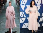 Fashion Blogger Catherine Kallon features Rachel Weisz In Marc Jacobs - 2019 Oscars Nominees Luncheon