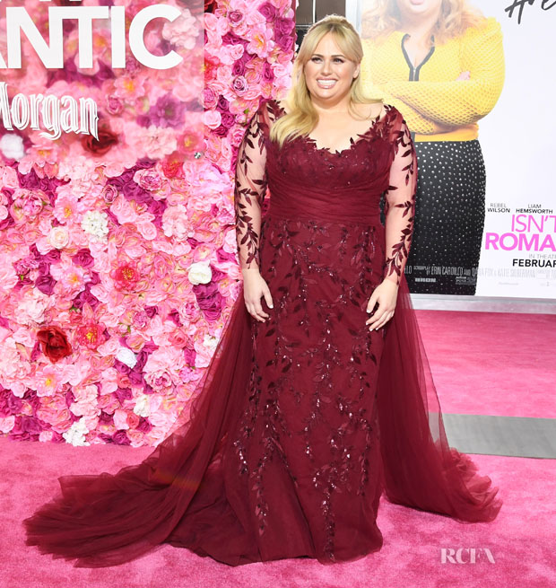 Fashion Blogger Catherine Kallon features Rebel Wilson In Paolo Sebastian - 'Isn't it Romantic' LA Premiere