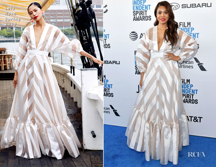 Fashion Blogger Catherine Kallon features Regina Hall In Lela Rose - 2019 Film Independent Spirit Awards