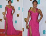 Fashion Blogger Catherine Kallon features Regina King In Atelier Versace - 2019 BAFTAs