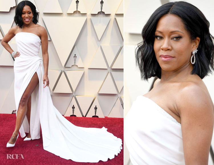 e35bb84c78a750 Regina King In Oscar de la Renta - 2019 Oscars - Red Carpet Fashion ...