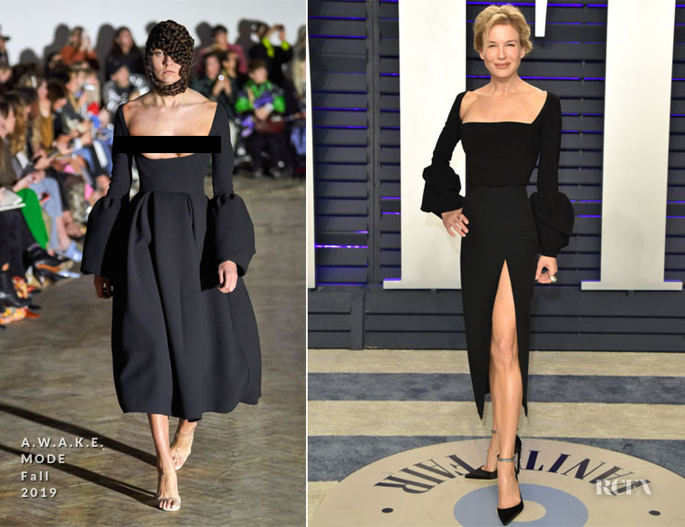 Renée Zellweger In A.W.A.K.E. MODE - 2019 Vanity Fair Oscar Party