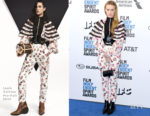Fashion Blogger Catherine Kallon features Riley Keough In Louis Vuitton - 2019 Film Independent Spirit Awards