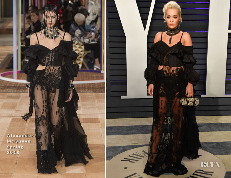 Rita Ora In Alexander McQueen - 2019 Vanity Fair Oscar Party