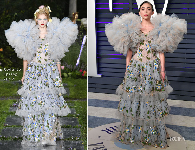 Rowan Blanchard In Rodarte - 2019 Vanity Fair Oscar Party