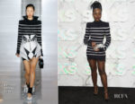 Fashion Blogger Catherine Kallon Features Saks Celebrates New Main Floor With Lupita Nyong'o In Balmain