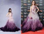 Fashion Blogger Catherine Kallon features Silvia Abascal In Marchesa - 2019 Goya Awards