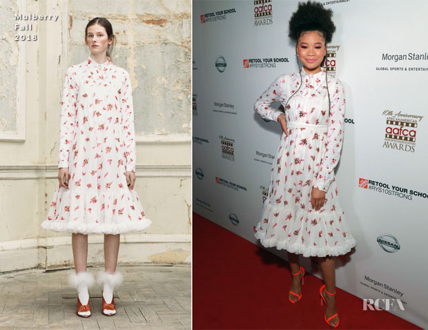 Fashion Blogger Catherine Kallon features Storm Reid In Mulberry - 2019 AAFCA Awards