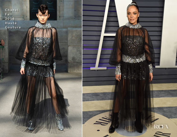 Tessa Thompson In Chanel Haute Couture - 2019 Vanity Fair Oscar Party